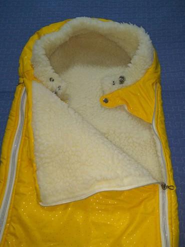 сумка-кенгуру-для-ребенка-цена в Кыргызстан: Муфта-конверт,супер тёплый, очень удобно укладывать ребенка, покупали
