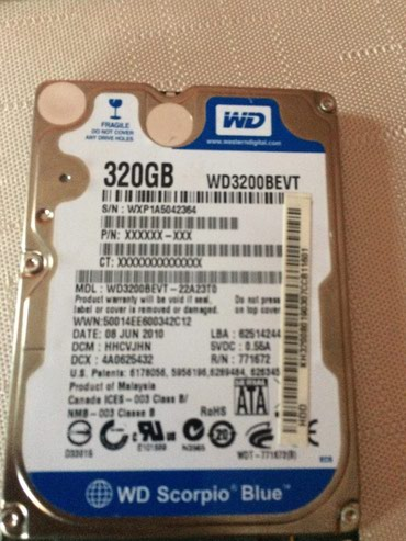Hard disk 320GB WD Blue, 2,5 inca. - Bogatic