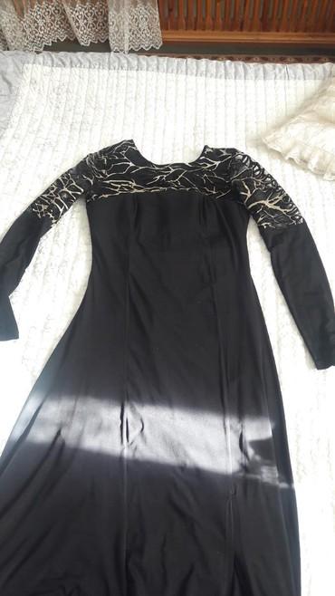 черное платье на свадьбу в Кыргызстан: Платье на вечер или свадьбу идеально подходит.цвет черный с золотом