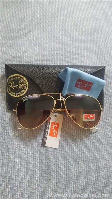 Ray-ban-rb - Srbija: Ray Ban Aviator, Brown, Unisex, Nove. Brown Staklo i Zlatni RamModel