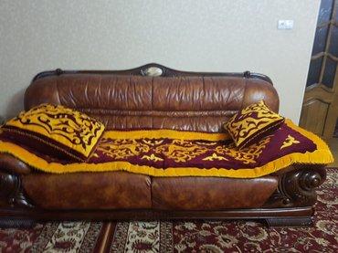 мягкая кожаная мебель 3+2+1 в Бишкек