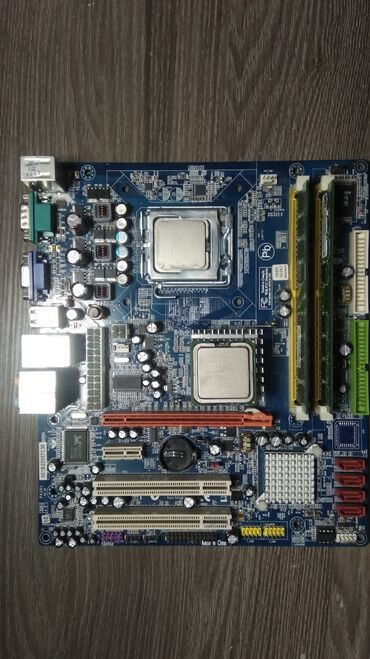 Мат плата, опера 2гб, проц intel core 2 duo, охлаждение(радиатор).Виде