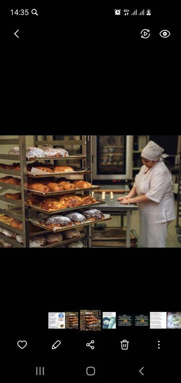 Пекарныйга кыздар керек айлыгы 15 чейин