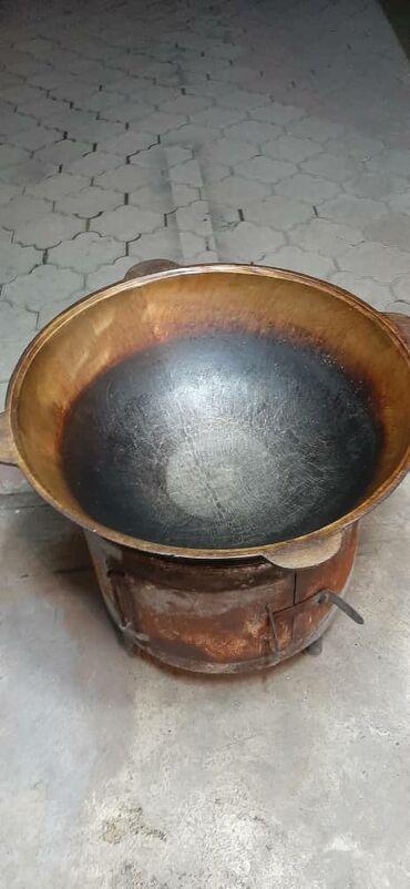 Посуда - Кыргызстан: Продаю казан!!! 60литров. Подставка под казан продаётся отдельно!!!