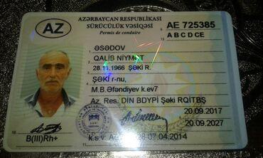İş axtarıram (rezümelər) - Şəki: Yük maşını sürücüsü. (DE). 6 ildən artıq təcrübə