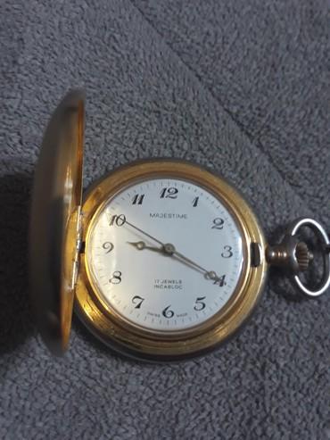 Džepni mehanički sat MAJESTIME,17 rubina u super stanju i potpuno - Smederevska Palanka