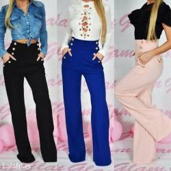 Pink pantalone - Srbija: Pantalone duboki struk sa dugmicima NOVO! Dostupne boje :Crne, bele