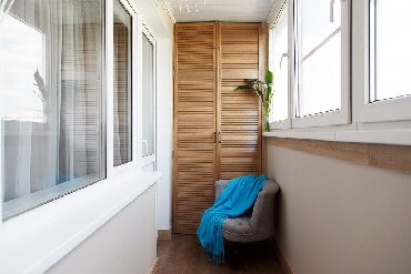 Шкаф на балкон ! Шкафы для Балкона Шкафы до потолка Мебель для