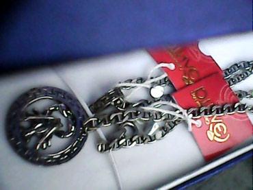 Новая мужская серебряная цепочка с в Бишкек