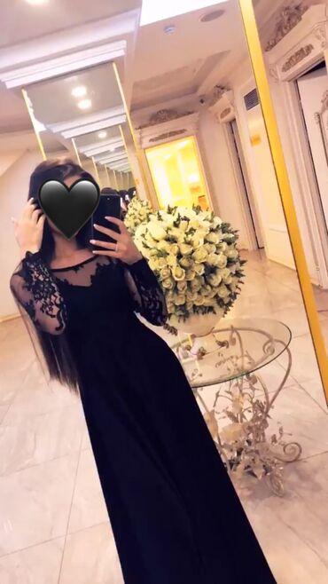 длинное платье с разрезом в Кыргызстан: Продаю платье, было сшито на заказ, ткань итальянский шёлк и