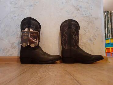 tufli 35 razmer в Кыргызстан: Новые ковбойские сапоги размер 42.43.натуральная кожа.Шляпа черная ра