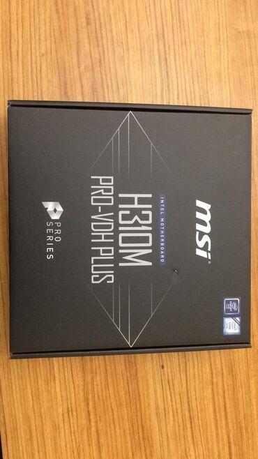"Ana platalar - Azərbaycan: Ana plata ""MSİ H310m pro-vdh Plus""Supports 9th / 8th Gen Intel® Core™"