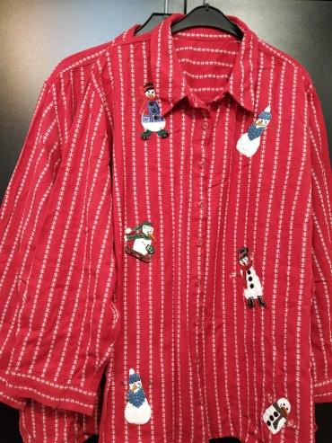 Рубашка жен. с аппликациями. 100 %хлопок. Размер 58, 60. Новая. в Бишкек