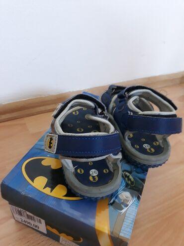Batman - Srbija: Batmen sandale za decake.Velicina 26.Podesavanja na cicak trake,dve