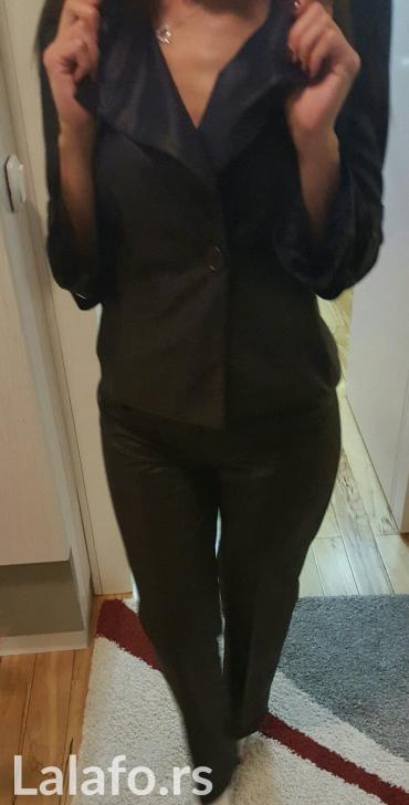 NOVO ACCESS crni komplet pantalone i sako, vel s, materijal -izgleda - Nis