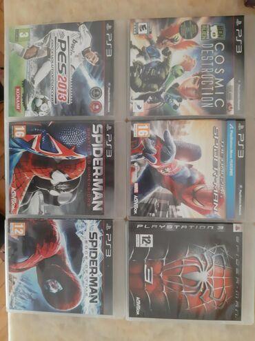 PS 3 üçün oyunları.Bütün oyunlar işlək vəziyyətdədir.Bir oyun 15