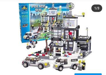 konstruktor mozaika - Azərbaycan: Polis bölməsi və maşınları konspektində lego konstruktor. 661 parçadan