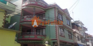 Strongly built house having land area 0-3-2-0 of 3.5 floors, facing in Kathmandu
