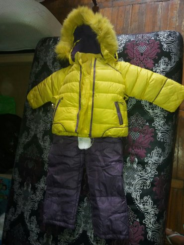 костюм зимний. новый с этикеткой. тройка(штаны,жилет, куртка) от 1. 5  в Бишкек