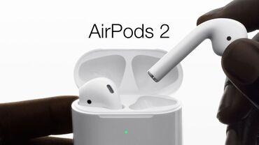 bluetooth наушники p в Азербайджан: Apple AirPods 2 - YeniAmerikadan gətirilib. Tam olaraq Orijinaldır və