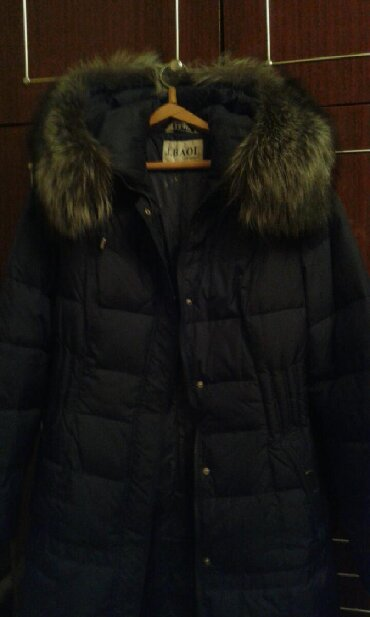 Женская одежда в Беловодское: Новая зимняя куртка, с натуральным мехом р50-52. Прошу 4500сом