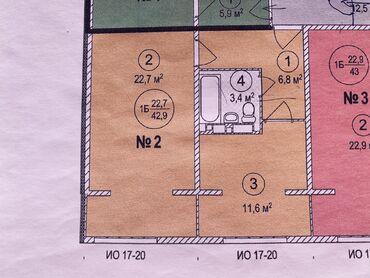 дома на продажу в бишкеке в Кыргызстан: Продается квартира: 1 комната, 45 кв. м