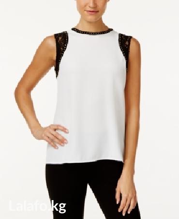 Calvin klein, sleeveless embellished top. цвет soft white. в Бишкек