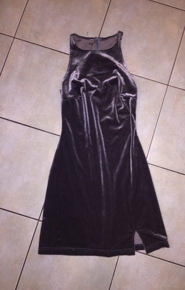 Γκρι - ασημί βελουτέ μίνι φορεμα με σε Υπόλοιπο Αττικής