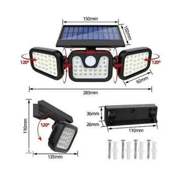 Солнечный прожектор Уличный LED светильник широко используется для осв