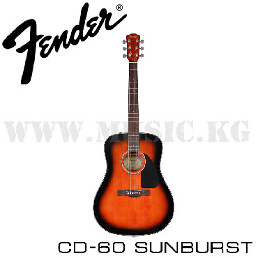 Гитары в Кыргызстан: Гитара акустическая Fender CD-60 SUNBURSTЗамечательный инструмент