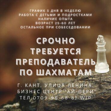 """Работа - Кировское: Компании """"Effective"""" требуется учитель по шахматам, с опытом, от 25"""