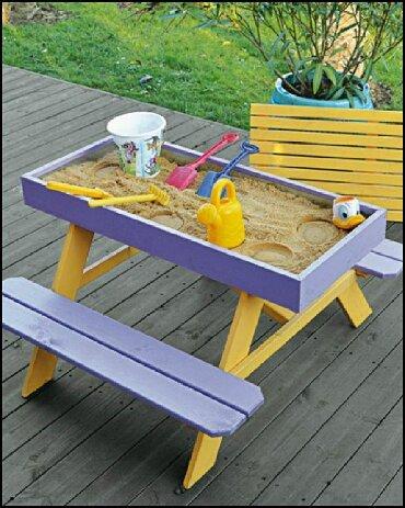 деревянные игрушки буратино в Кыргызстан: Песочница- столик! Прекрасно подойдут для игр двух- трёх детей