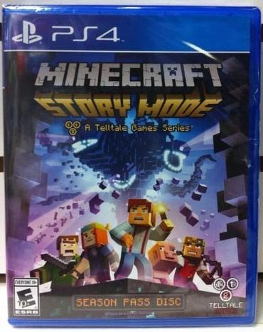 Bakı şəhərində Ps4 ucun Minecraft story mode oyunu bagli upooovkada