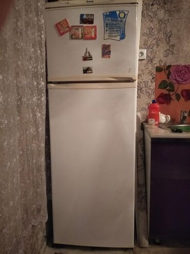Холодильники в Ак-Джол: Б/у Двухкамерный Белый холодильник Днепр