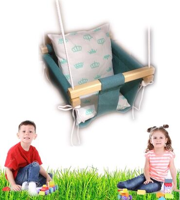 В наличии имеется подвесные детские качели с экологически чистых
