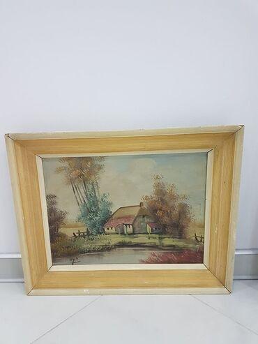 Slike na platnu - Srbija: Odlicna slika u lux ramu dimenzije41 cm52 cm SLIKA JE ULJE NA
