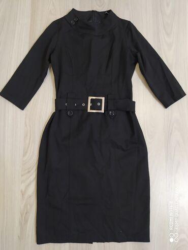 Продаю чёрное платье для офиса