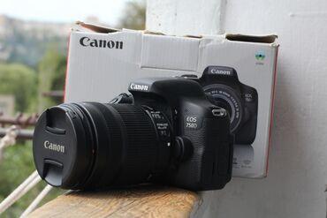 Фото и видеокамеры в Азербайджан: Canon 750D + 18.135 STM lensle birge satilir. Aparat ideal