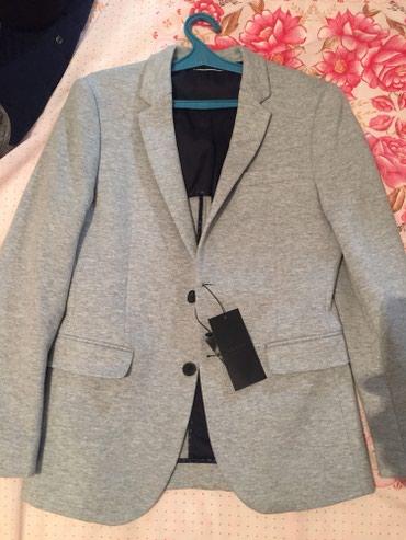 Пиджак серый, приталенный. Покупался в в Бишкек
