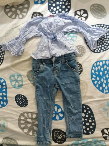 Ostala dečija odeća | Kursumlija: Kosuljica i farmerke svega 2 puta noseno. Velicina 86. Moze i