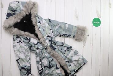 Жіноча куртка з хутром на капюшоні та рукавах, р. L    Довжина: 77 см
