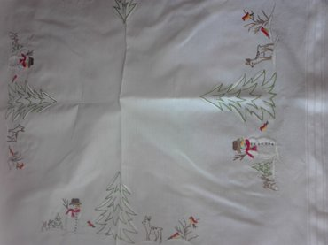 Frosty the snowman tablecloth 2. Τραπεζοκαρε με χιονανθρωπακια, σε σε Ανατολική Θεσσαλονίκη