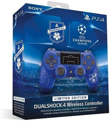 """Video oyunlar üçün aksesuarlar - Azərbaycan: """"Sony Champions League Limited Edition"""" PS4 pultu.Sony şirkətindən"""