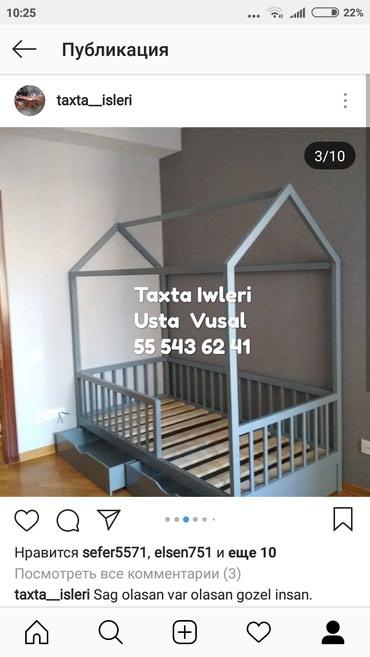 Bakı şəhərində Domik (montessori) carpayilarin taxtadan sifariwi qebul olunur.Sosna