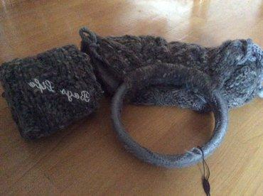 Bakı şəhərində Новый вязаный комплект сумка плюс шарф, цвет темно серый