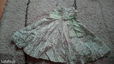 Dečija odeća i obuća | Pancevo: Bozanstvena letnja haljinica,zelena,velicina 6 duzina od vrha brtele
