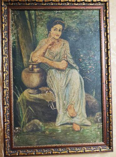 Антиквариат - Бишкек: Антикварная картина предположительно 18 век автор неизвестен со