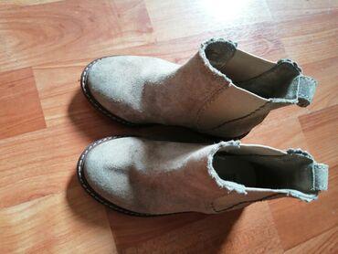 Dečija odeća i obuća - Smederevska Palanka: H&M cizmice za jesen, prevrnuta koza. Broj 25