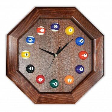 """Бильярдные столы - Кыргызстан: Часы """"8 граней"""" ясень/шпон, лак Super DD, цвет #3Бильярдные часы - это"""