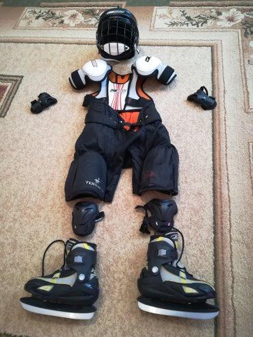 Коньки - Бишкек: Хоккей комплект - шлем, коньки, одежда и.т
